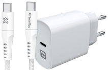 XtremeMac Power Delivery Oplader 20W + Usb C Kabel 2,5m Nylon Wit