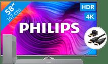 Philips 58PUS8506 - Ambilight (2021) + Soundbar + HDMI cable