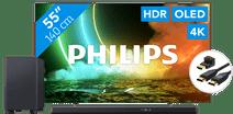 Philips 55OLED706 - Ambilight (2021) + Soundbar + Hdmi kabel