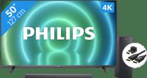 Philips 50PUS7906 - Ambilight (2021) + Soundbar + Hdmi kabel