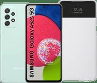 Samsung Galaxy A52s 128GB Groen 5G  + Samsung S View Book Case Wit