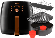 Philips Airfryer XXL Smart Sensing Premium HD9867/90 + Accessoireset