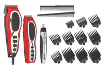 Wahl Close Cut Red Combo