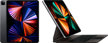 Apple iPad Pro (2021) 12.9 inch 256GB Wifi + 5G Space Gray + Magic Keyboard QWERTY Zwart