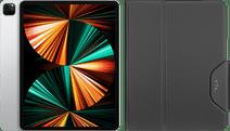 Apple iPad Pro (2021) 12.9 inch 1TB Wifi + 5G Zilver + Targus VersaVu Book Case Zwart Apple iPad Pro 12.9 inch met 1TB opslagcapaciteit