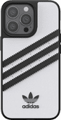 Adidas Apple iPhone 13 Pro Back Cover Leer Wit/Zwart