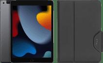 Apple iPad (2021) 10.2 inch 256GB Wifi + 4G Space Gray + Targus Book Case Zwart