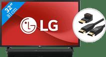 LG 32LM6370PLA (2021) + Soundbar + HDMI kabel Kleine tv's (t/m 32 inch)