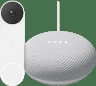 Google Nest Doorbell + Google Nest Mini Wit