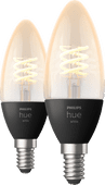 Philips Hue Filamentlamp White kaarslamp E14 Duo pack