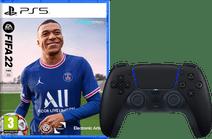 FIFA 22 PS5 + PlayStation 5 Dualsense Controller Midnight Bl