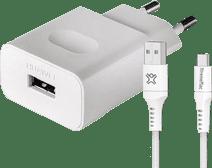 Huawei Quick Charge Oplader 18W + Usb C Kabel Nylon 2m Zwart