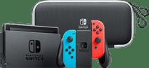 Nintendo Switch OLED Blauw Rood + Travel Case met Screenprot