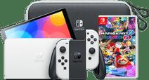Nintendo Switch OLED Wit onderweg pakket met game