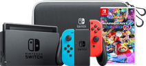 Nintendo Switch OLED Blauw Rood onderweg pakket met game