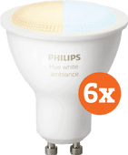 Philips Hue White Ambiance GU10 Bluetooth 6-Pack