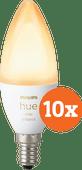 Philips Hue White Ambiance E14 Bluetooth 10-Pack