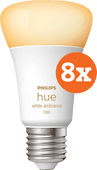 Philips Hue White Ambiance E27 10.5W 8-pack