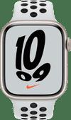 Apple Watch Nike Series 7 45mm Witgoud Aluminium Witte Sportband