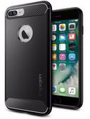 Spigen Rugged Armor Apple iPhone SE Plus / 8 Plus / 7 Plus Back Cover Zwart