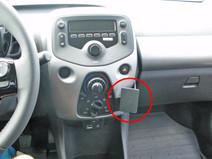 Brodit ProClip Peugeot 108/Citroën C1/Toyota Aygo vanaf 2014 Haakse Bevestiging