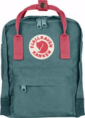 Fjällräven Kånken Mini Frost Green-Peach Pink - Children's backpack