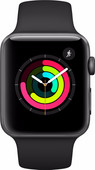 Renewd Apple Watch Series 3 Space Gray/Black 38mm
